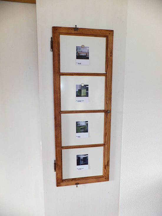 Fensterladen-Pinwand